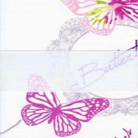 Зебра Бабочки 4096 розовый 260 см