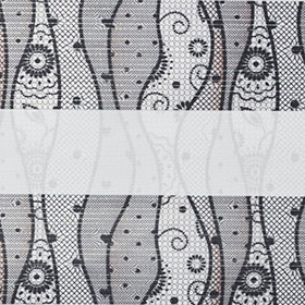 Зебра Кружево 1852 серый 280 см
